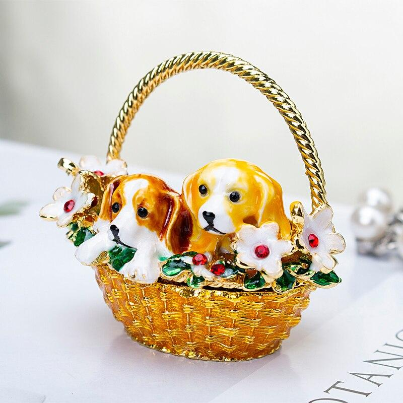 Beautiful Beagle Love Small Jewellery Box FigurineHome Decor