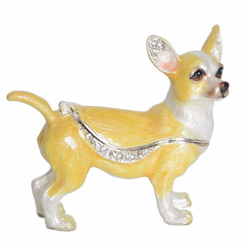 Beautiful Chihuahua Love Small Jewellery Box FigurineHome Decor