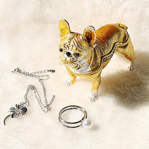 Beautiful French Bulldog Love Jewellery BoxHome Decor