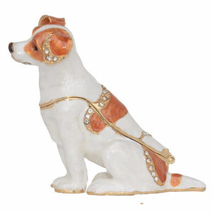 Beautiful Jack Russell Terrier Love Small Jewellery Box FigurineHome Decor