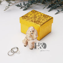 Load image into Gallery viewer, Beautiful Poodle Love Small Jewellery Box FigurineHome Decor