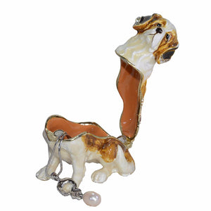 Beautiful Saint Bernard Love Small Jewellery Box FigurineHome Decor