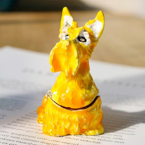 Beautiful Scottish Terrier Love Small Jewellery Box FigurineHome Decor
