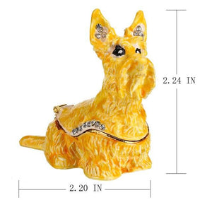 Beautiful Scottish Terrier Love Small Jewellery Box FigurineHome DecorDefault Title