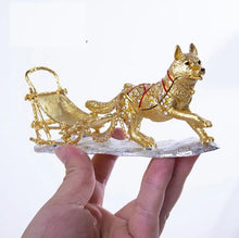 Load image into Gallery viewer, Beautiful Siberian Husky Love Small Jewellery Box FigurineHome Decor