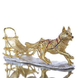 Beautiful Siberian Husky Love Small Jewellery Box FigurineHome Decor