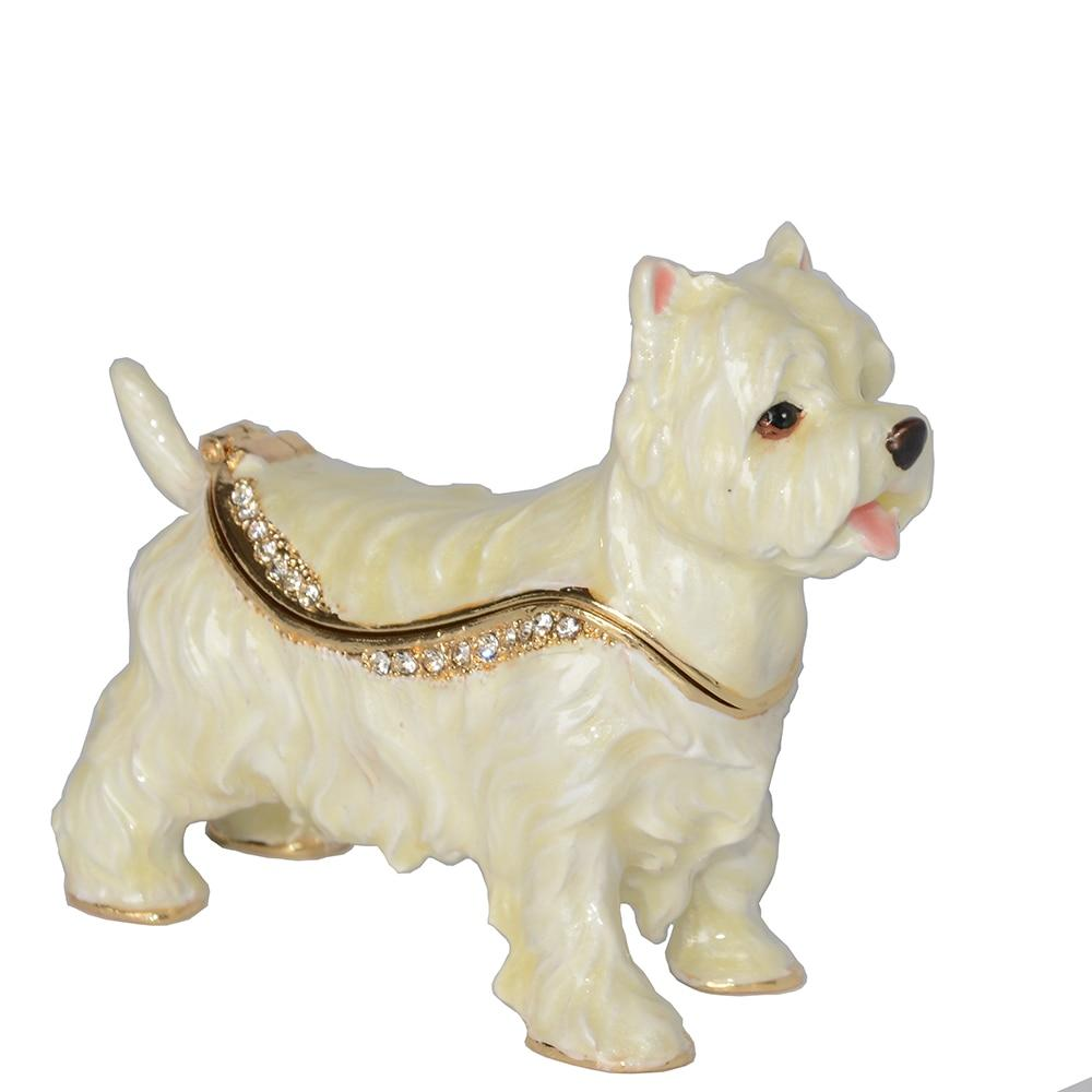 Beautiful West Highland Terrier Love Small Jewellery BoxDog Themed Jewellery