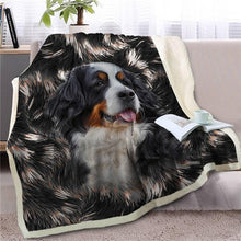 Load image into Gallery viewer, Bernese Mountain Dog Love Soft Warm Fleece BlanketBlanketBernese Mountain DogSmall