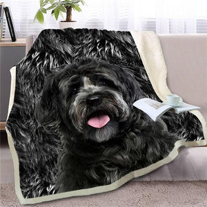 Bernese Mountain Dog Love Soft Warm Fleece BlanketBlanketMini SchnauzerSmall
