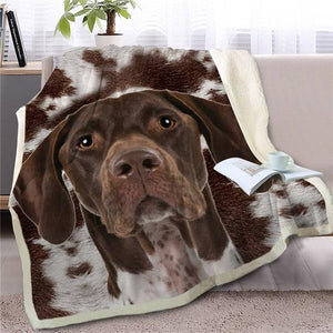 Bernese Mountain Dog Love Soft Warm Fleece BlanketBlanketOld Danish PointerSmall