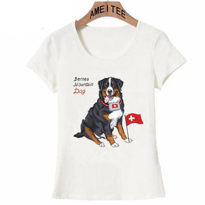 Bernese Mountain Dog Love Womens T ShirtApparelWhiteS