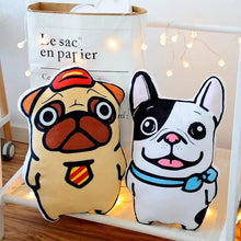Load image into Gallery viewer, Best Friends Frenchie and Pug Huggable Cushion PillowsHome Decor