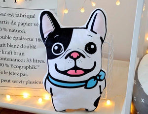 Best Friends Frenchie and Pug Huggable Cushion PillowsHome Decor
