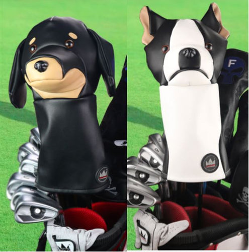 Best Friends Dachshund and Boston Terrier Golf Driver Club CoversHome Decor