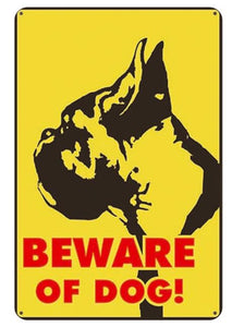 Beware of Dog Tin Sign Boards - Series 1Sign BoardBoxer - Beware of DogOne Size