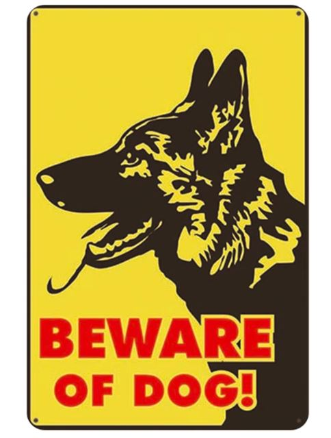 Beware of German Shepherd Tin Sign Board - Series 1Sign BoardGerman Shepherd - Beware of DogOne Size