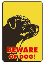Load image into Gallery viewer, Beware of Rottweiler Tin Sign Board - Series 1Sign BoardBlack Labrador - Beware of DogOne Size