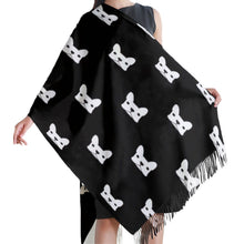 Load image into Gallery viewer, Black and White French Bulldog Love Warm Winter ShawlAccessories