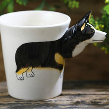 Load image into Gallery viewer, Black Corgi Love 3D Ceramic CupMug