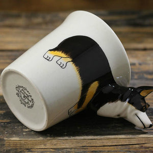 Black Corgi Love 3D Ceramic CupMug