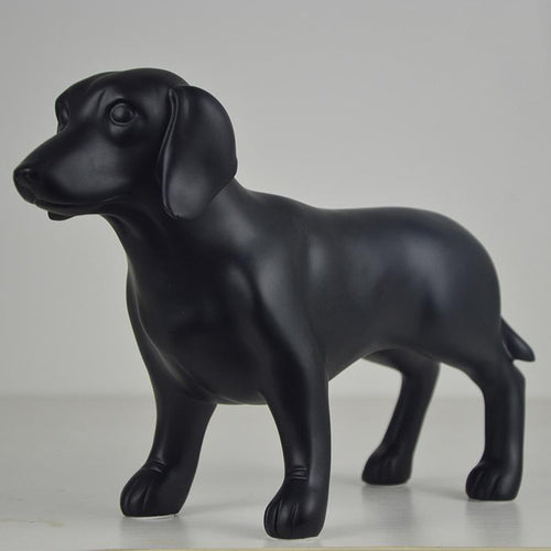 Black Dachshund Resin StatueHome Decor