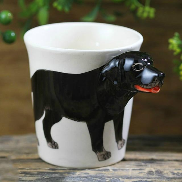 Black Labrador Love 3D Ceramic CupMugDefault Title