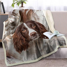 Load image into Gallery viewer, Black Labrador Love Soft Warm Fleece BlanketBlanketCavalier King Charles SpanielSmall