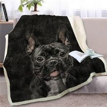Load image into Gallery viewer, Black Labrador Love Soft Warm Fleece BlanketBlanketFrench BulldogSmall