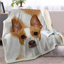 Load image into Gallery viewer, Black Labrador Love Soft Warm Fleece BlanketBlanketJack Russell TerrierSmall