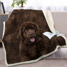 Load image into Gallery viewer, Black Labrador Love Soft Warm Fleece BlanketBlanketNewfoundland dogSmall