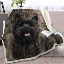 Load image into Gallery viewer, Black Labrador Love Soft Warm Fleece BlanketBlanketScottish TerrierSmall
