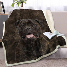 Load image into Gallery viewer, Black Labrador Love Soft Warm Fleece BlanketBlanketStaffordshire Bull TerrierSmall