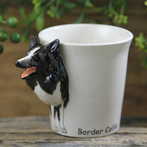 Border Collie Love 3D Ceramic CupMug