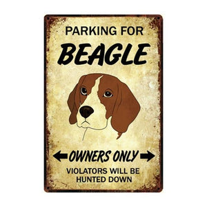 Border Collie Love Reserved Parking Sign BoardCarBeagleOne Size