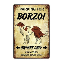 Load image into Gallery viewer, Border Collie Love Reserved Parking Sign BoardCarBorzoiOne Size