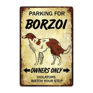 Border Collie Love Reserved Parking Sign BoardCarBorzoiOne Size