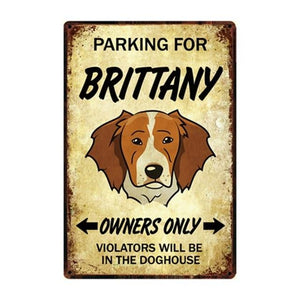 Border Collie Love Reserved Parking Sign BoardCarBrittanyOne Size