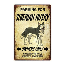 Load image into Gallery viewer, Border Collie Love Reserved Parking Sign BoardCarHuskyOne Size