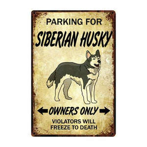 Border Collie Love Reserved Parking Sign BoardCarHuskyOne Size