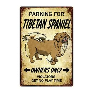 Border Collie Love Reserved Parking Sign BoardCarTibetan SpanielOne Size