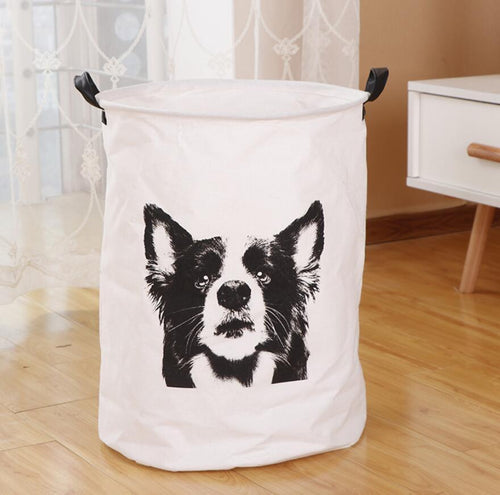 Border Collie Love Waterproof Laundry BasketHome Decor