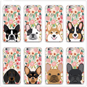 Boston Terrier in Bloom iPhone CaseCell Phone Accessories