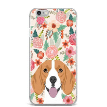 Load image into Gallery viewer, Boston Terrier in Bloom iPhone CaseCell Phone AccessoriesBeagleFor 5 5S SE