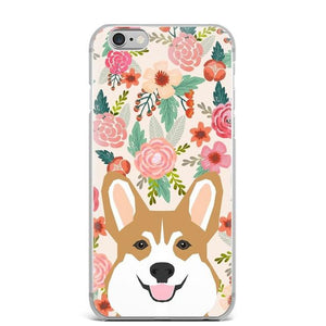 Boston Terrier in Bloom iPhone CaseCell Phone AccessoriesCorgi - Fawn / RedFor 5 5S SE