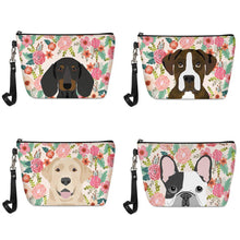 Load image into Gallery viewer, Boston Terrier in Bloom Make Up BagAccessories