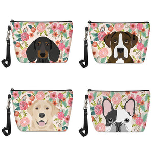 Boston Terrier in Bloom Make Up BagAccessories