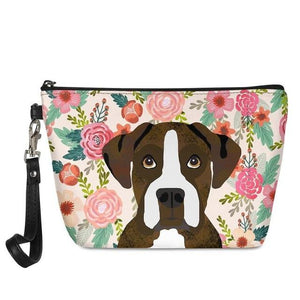 Boston Terrier in Bloom Make Up BagAccessoriesBoxer