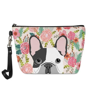 Boston Terrier in Bloom Make Up BagAccessoriesFrench Bulldog