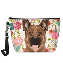 Load image into Gallery viewer, Boston Terrier in Bloom Make Up BagAccessoriesGerman Shepherd