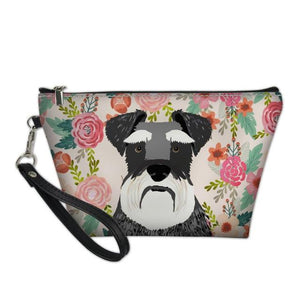 Boston Terrier in Bloom Make Up BagAccessoriesSchnauzer